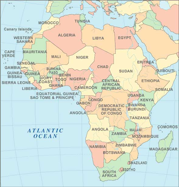 Map Of Africa 2010.Africa Tropical Goods Export Selection
