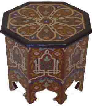 meubles marocains table de lit a roulettes. Black Bedroom Furniture Sets. Home Design Ideas