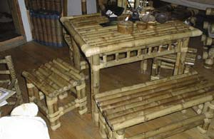 indonesia bamboo dining room furniture