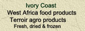 West Africa food products & terroir specialities