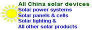China solar products