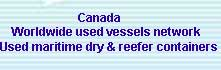 Used vessels and maritime containers