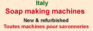 Italy soap making machines